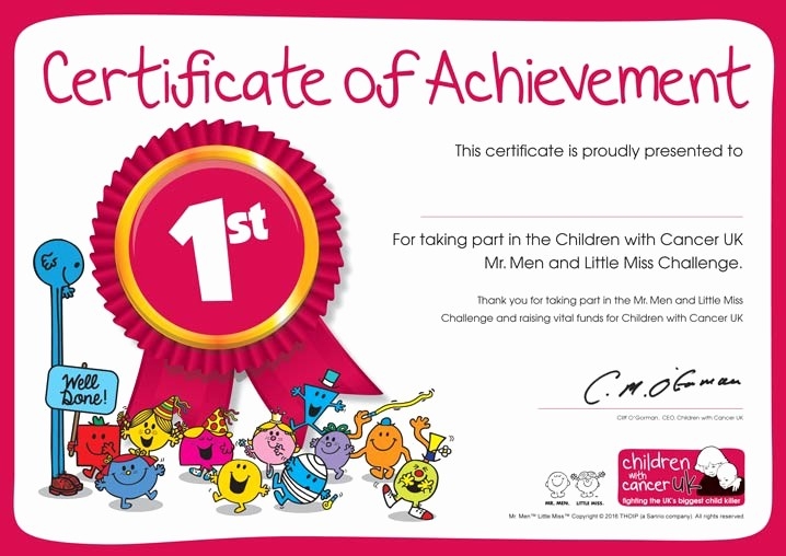 Certificates Of Achievement for Students New Children with Cancer Uk Annual Review 2015