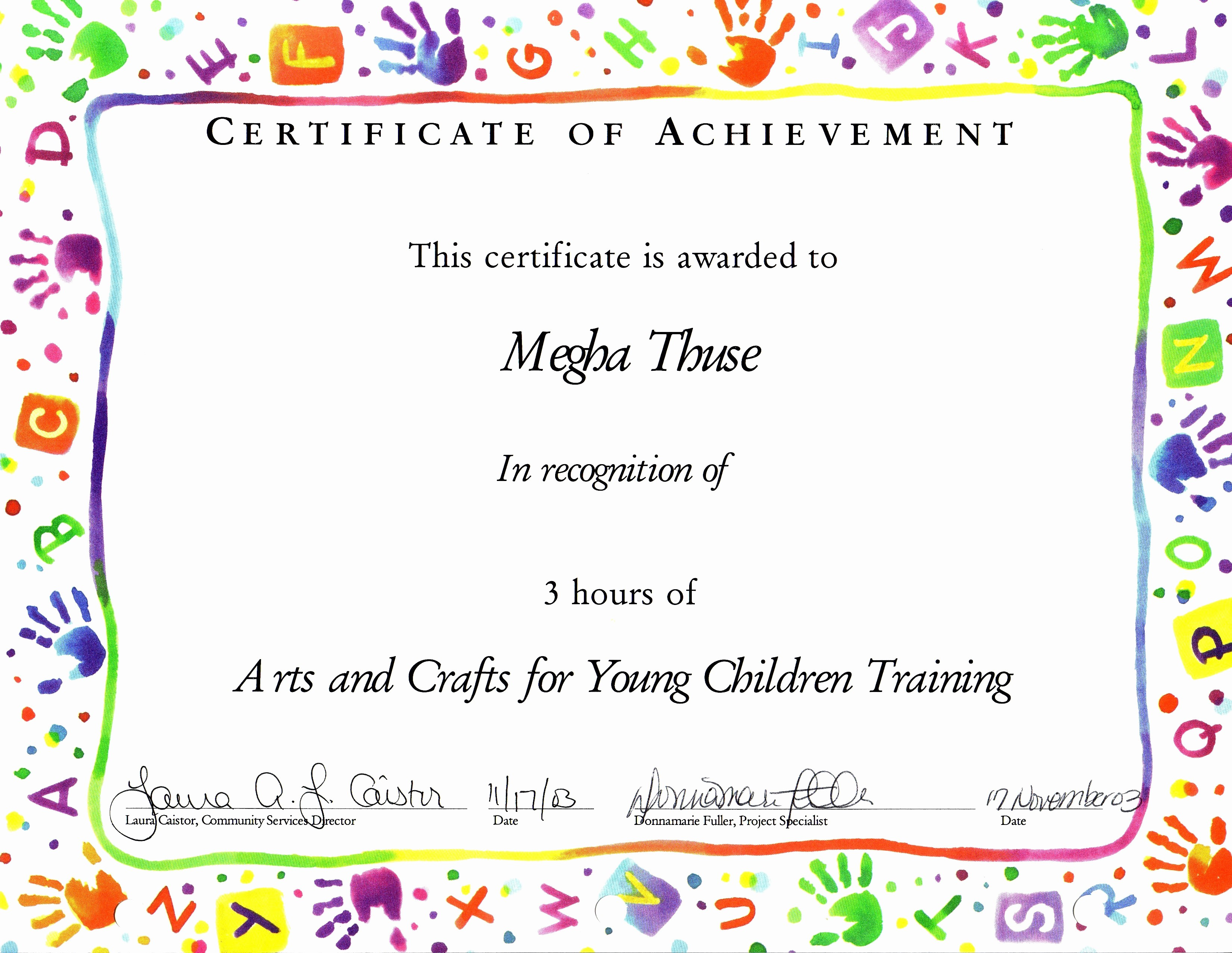Certificates Of Achievement for Students New Templates for Certificates for Children