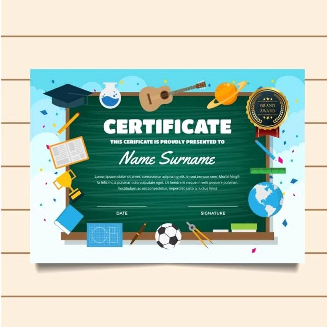 Certificates Of Achievement for Students Unique Cute Education Classroom theme Children Certificate