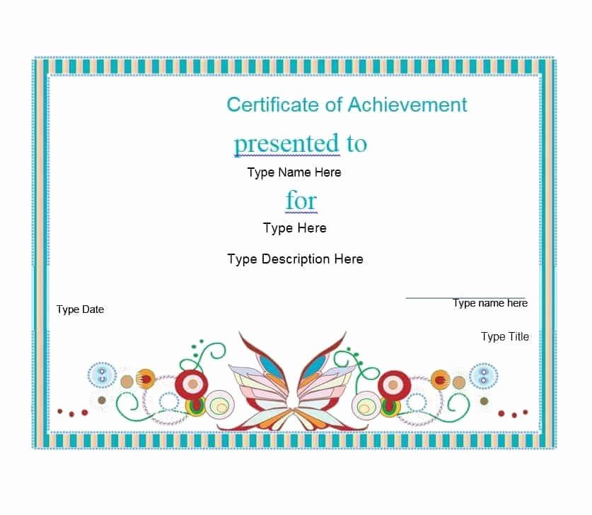 Certificates Of Achievement Templates Free Beautiful 40 Great Certificate Of Achievement Templates Free