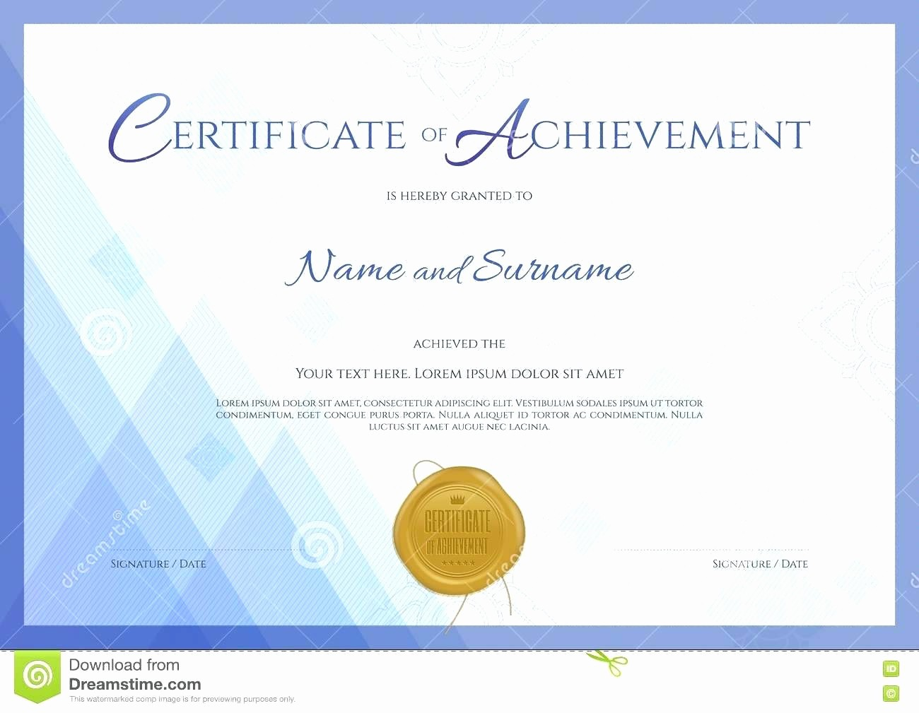 Certificates Of Achievement Templates Free Beautiful Template Certificate Achievement Template