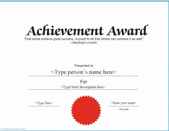 Certificates Of Achievement Templates Free Elegant Printable Certificate Of Achievement