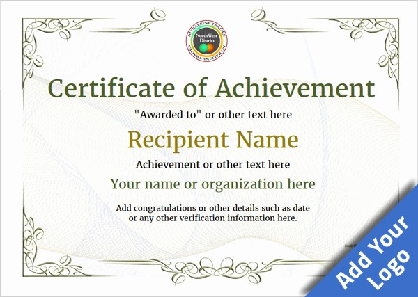 Certificates Of Achievement Templates Free Lovely Certificate Of Achievement Free Templates Easy to Use