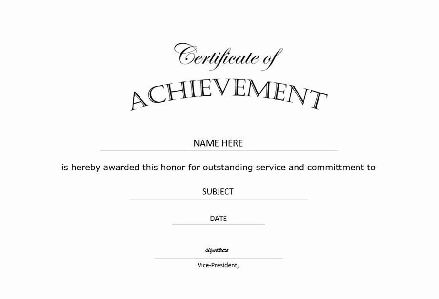 Certificates Of Achievement Templates Free Lovely Certificate Of Achievement Landscape Free Templates Clip