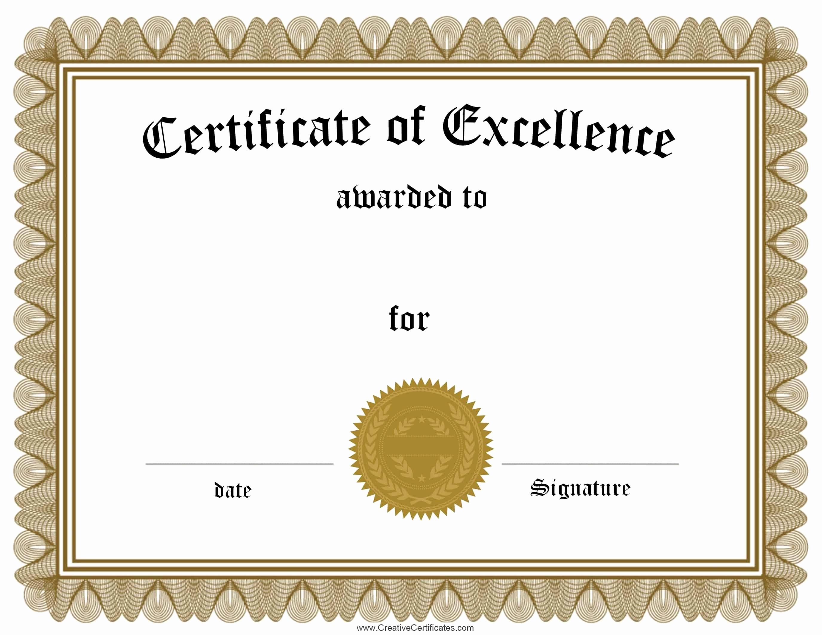 Certificates Of Achievement Templates Free Unique Free Customizable Certificate Of Achievement