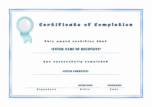 Certificates Of Completion Template Word Beautiful Certificate Of Pletion 001