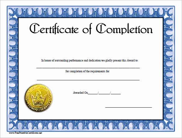 Certificates Of Completion Template Word Luxury 38 Pletion Certificate Templates Free Word Pdf Psd