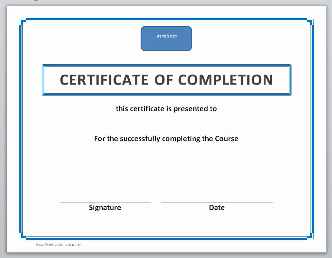 Certificates Of Completion Template Word New 13 Free Certificate Templates for Word