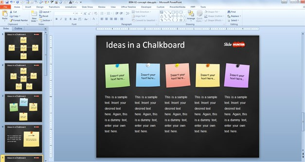 Chalkboard Powerpoint Template Free Download Best Of Free Concept Idea Presentation Template for Powerpoint