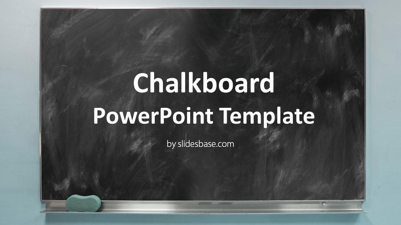 Chalkboard Powerpoint Template Free Download Elegant Blackboard Chalkboard Powerpoint Template