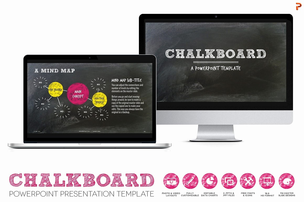 Chalkboard Powerpoint Template Free Download Elegant Chalkboard Ppt Presentation Template Presentation