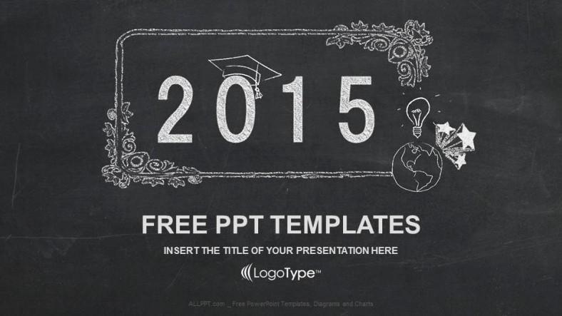 Chalkboard Powerpoint Template Free Download Fresh Blackboard Education Powerpoint Template