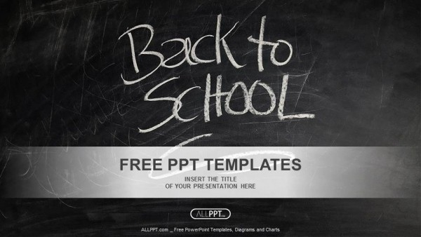 Chalkboard Powerpoint Template Free Download Inspirational Back to School Powerpoint Templates