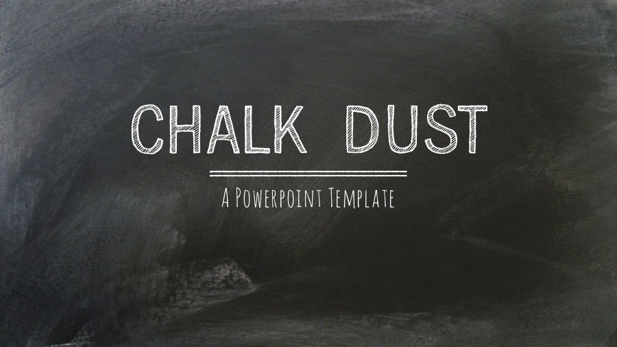Chalkboard Powerpoint Template Free Download Luxury Chalk Dust Powerpoint Presentation Template by 83munkis