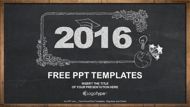 Chalkboard Powerpoint Template Free Download Unique 2016 Concept On Blackboard Powerpoint Templates
