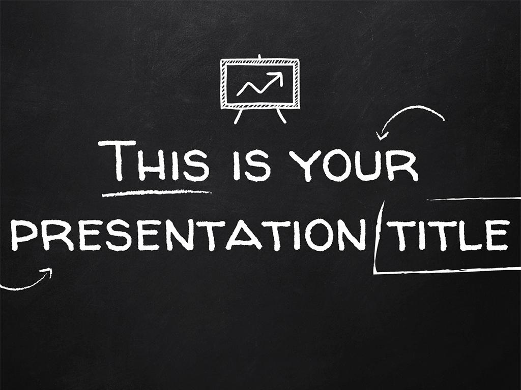 Chalkboard Powerpoint Template Free Download Unique Free Presentation Template Blackboard Style