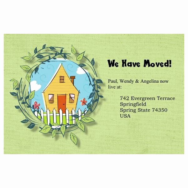 Change Of Address Template Word Awesome 5 Free Change Of Address Postcards Templates for