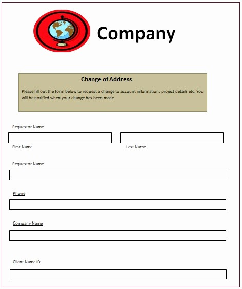 Change Of Address Template Word Fresh Change Of Address Notice Templates