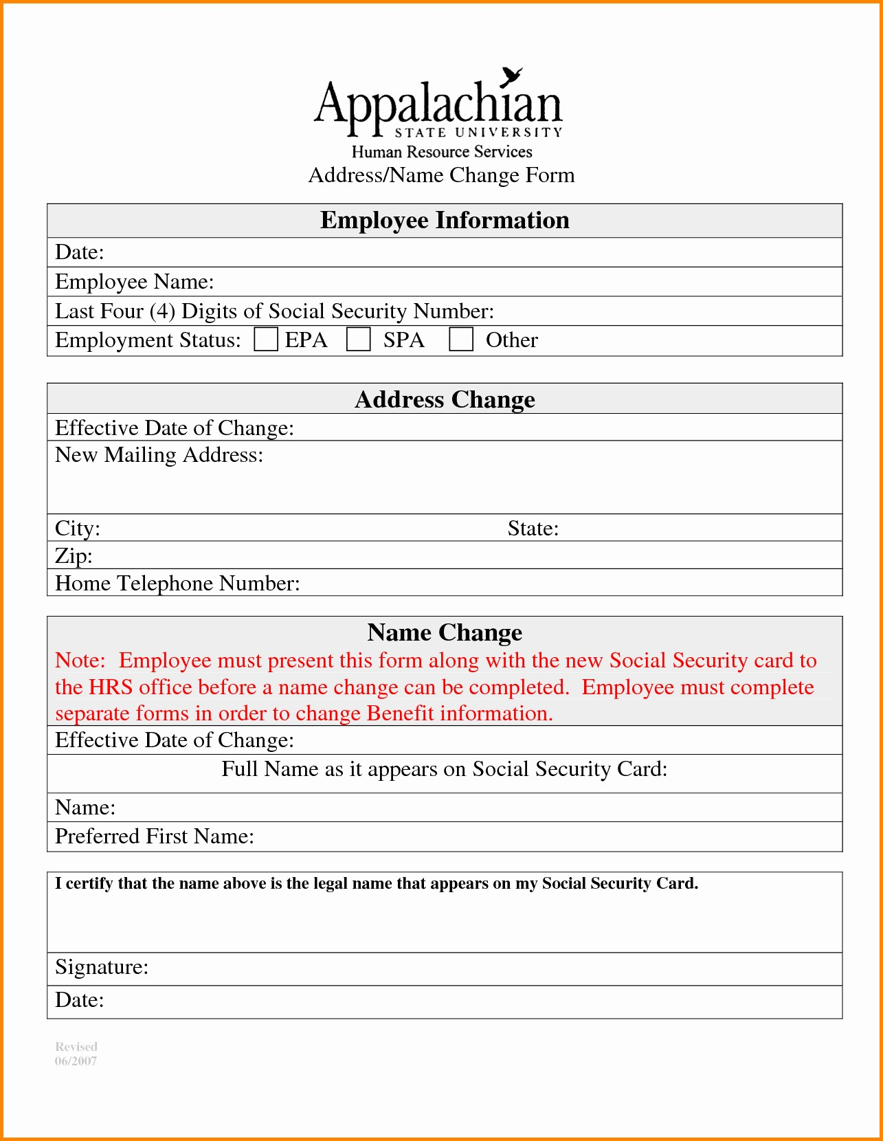 Change Of Address Template Word Lovely Change Of Address Template Word Printable Address Change