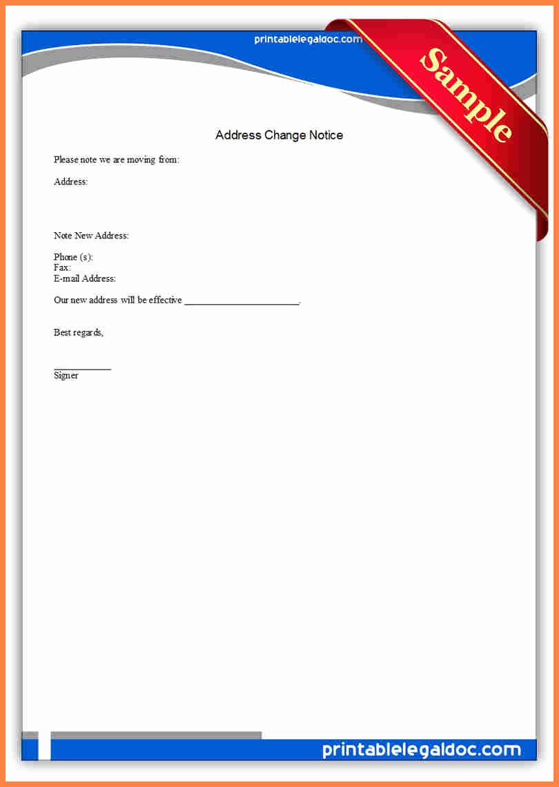 Change Of Address Template Word New 6 Change Of Address Notice Template