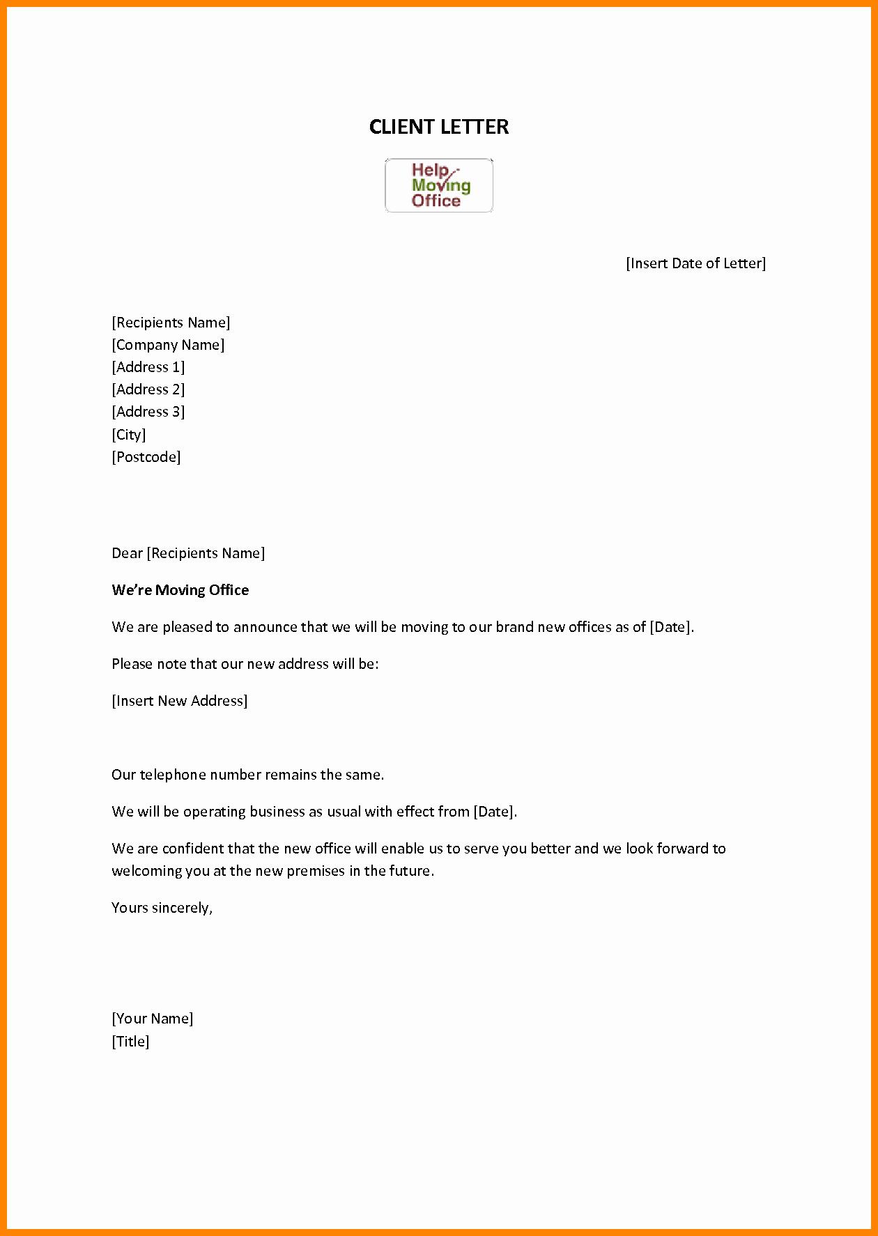 Change Of Address Template Word New Free Change Address Resume Trakore Document Templates