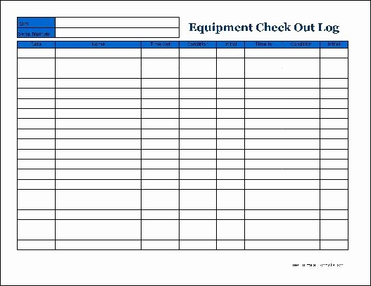 Check In and Out Template Elegant Best S Of Check Out Inventory Sheet Equipment Check