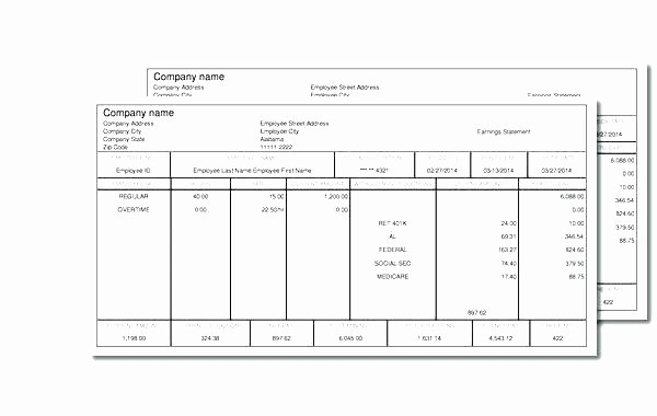 Check Stub Template for Excel Beautiful Fice Pay Stub Template 7 Make Stubs Templates Free
