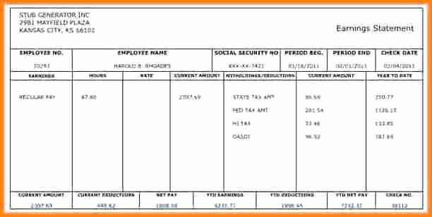 Check Stub Template for Excel Best Of 5 Payroll Checks Templates Free
