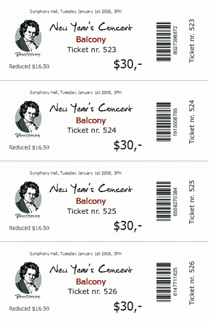 Chicken Plate Sale Ticket Template Beautiful Ticketcreator Create Design and Print Tickets with