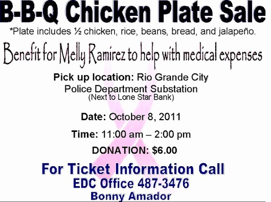 Chicken Plate Sale Ticket Template Elegant Bbq Chicken Plate Sale October 8 2011 Benefit for Melly