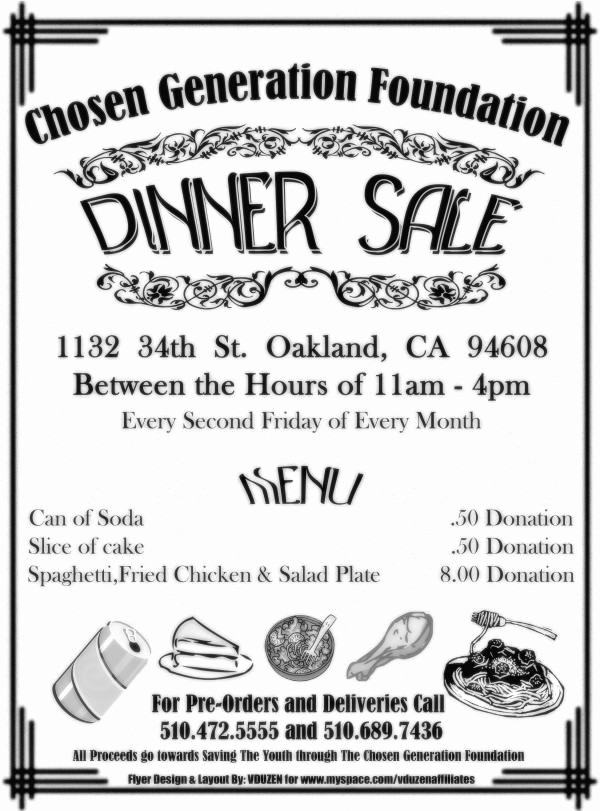 Chicken Plate Sale Ticket Template Fresh Chicken Dinner Sale Flyer Template to Pin On