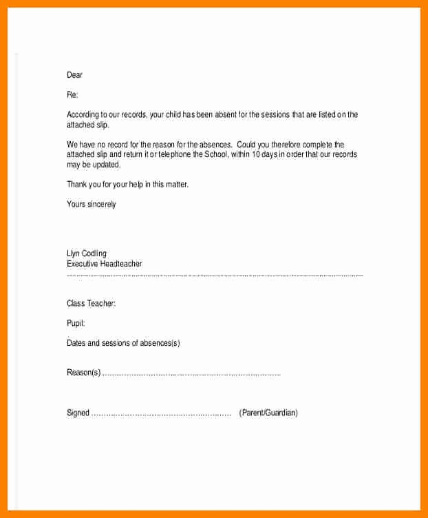 Child Absent From School Letter Best Of Child Absence Letter Romeondinez