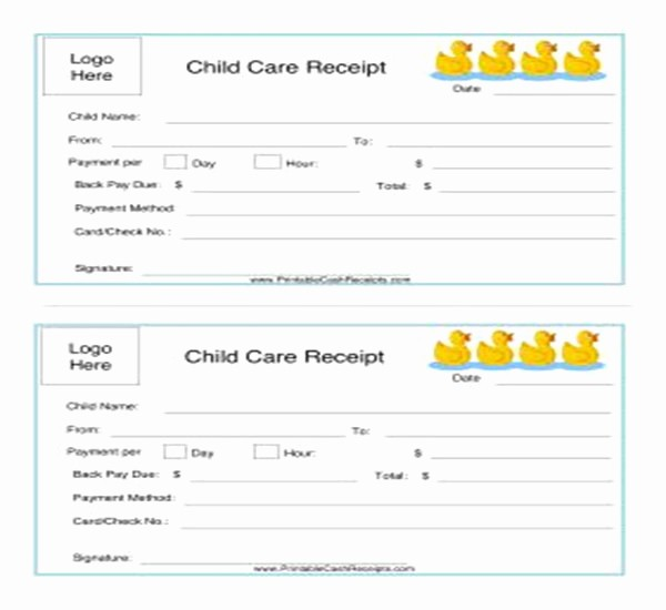 Child Care Receipt Template Excel Beautiful 21 Daycare Receipt Templates Free Pdf Word Excel formats