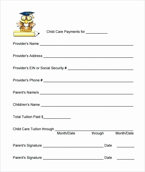 Child Care Receipt Template Excel Fresh Template Blank Child Care Menu Template Invoice Awesome