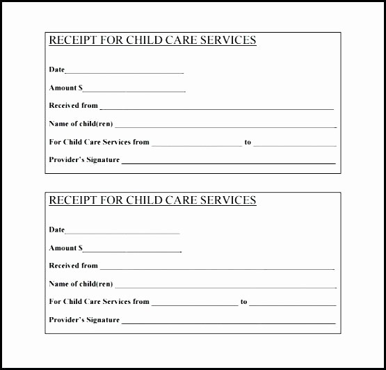 Child Care Receipt Template Excel Lovely Babysitting Tax Receipt Template Child Care Receipt