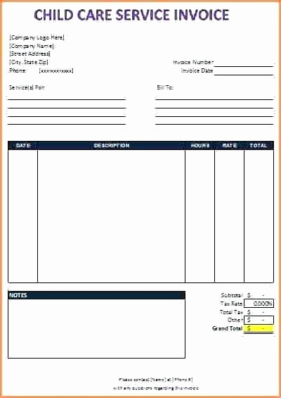 Child Care Receipt Template Excel Lovely Dependent Day Care Receipt Pdf Download Web Art Gallery