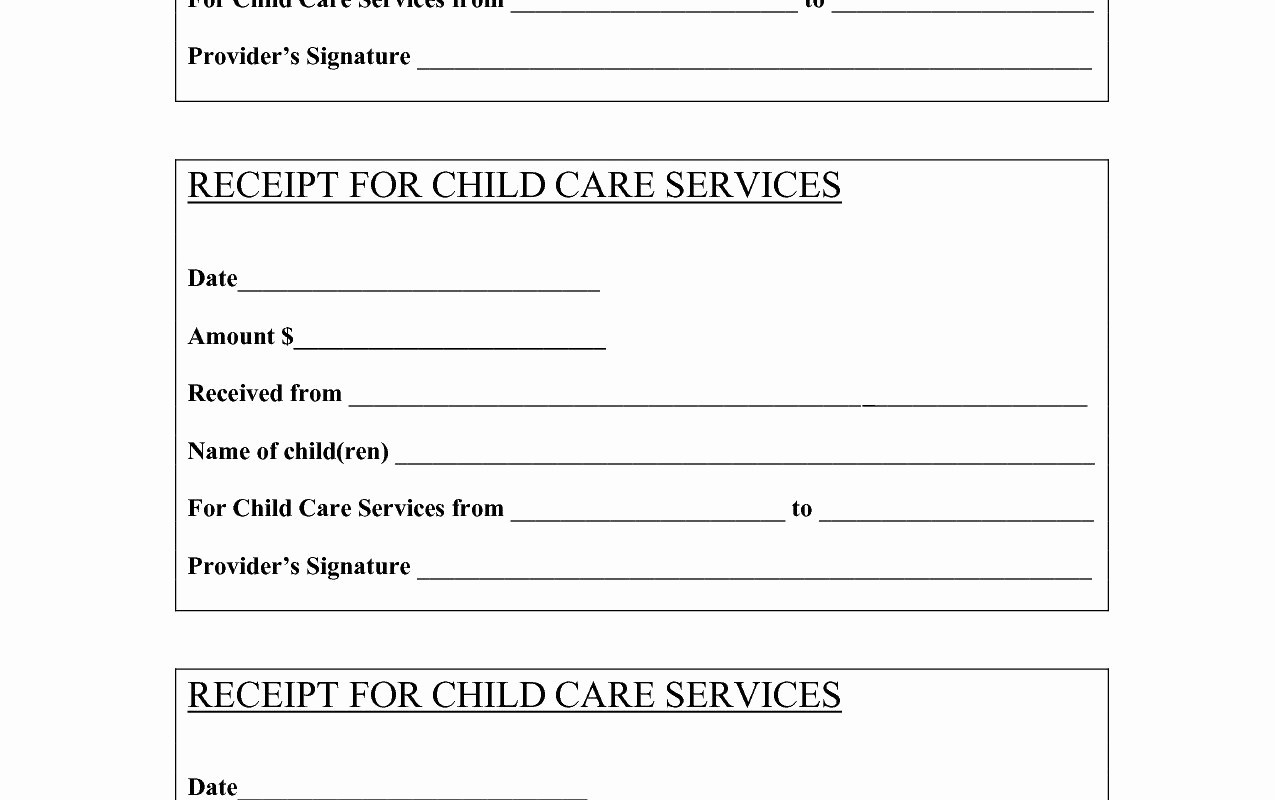 Child Care Receipt Template Excel Unique Child Care Invoice Template Excel Incredible Resume