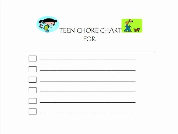 Chore Chart Template Free Download Beautiful Chore Chart Template 6 Free Pdf Word Documents Download