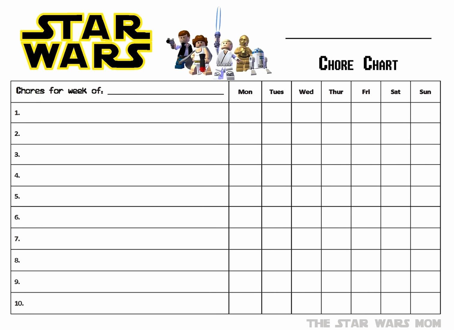 Chore Chart Template Free Download Fresh Free Printable Reward Charts