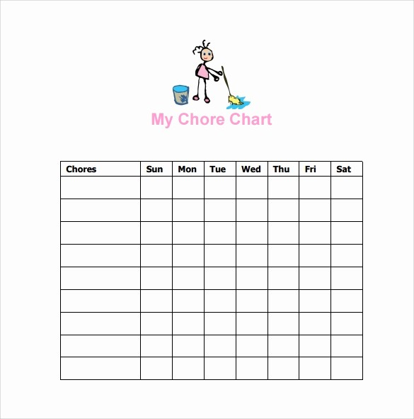 Chore Chart Template Free Download Inspirational 10 Sample Chore Chart Templates