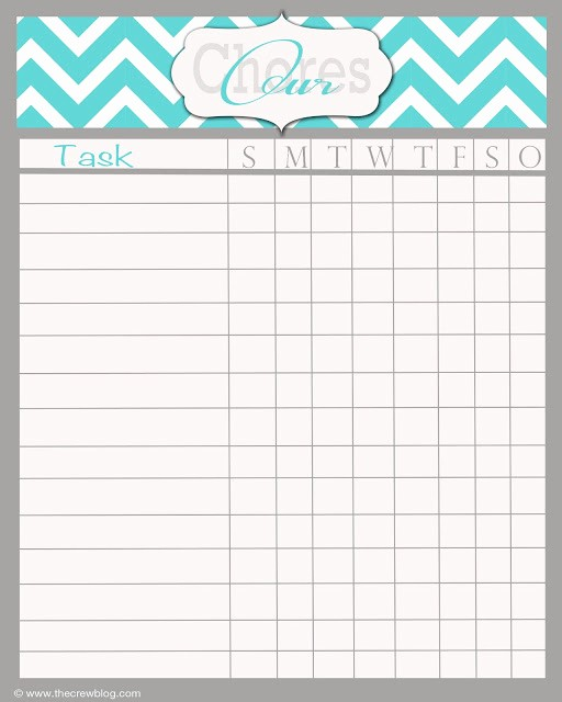 Chore Chart Template Free Download Inspirational Free Printable Daily Chore Chart Template Household Chore