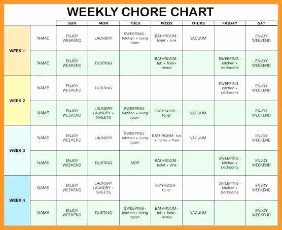 Chore Chart Template Google Docs Awesome 10 11 Free Editable Printable Chore Charts