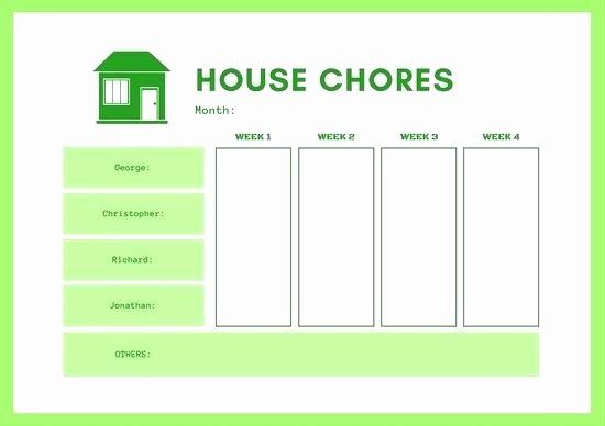 Chore Chart Template Google Docs Beautiful Printable Chore Chart Template Fresh Free Financial Money