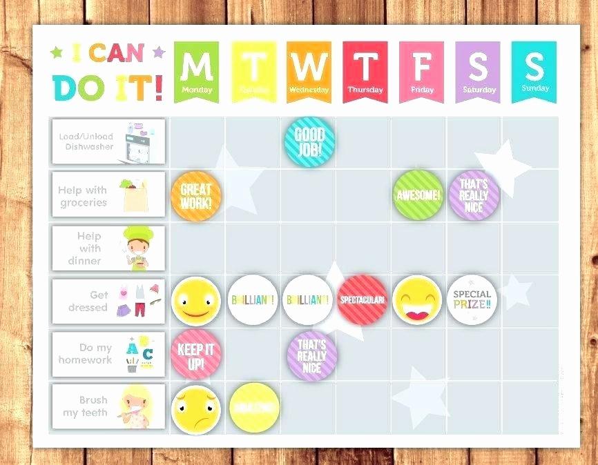 Chore Chart Template Google Docs Best Of Good Behavior Chart Template Free Behaviour Chart