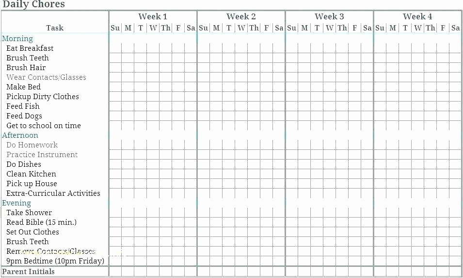 Chore Chart Template Google Docs Lovely Chore Board Template Chore Chart for Couples Awesome