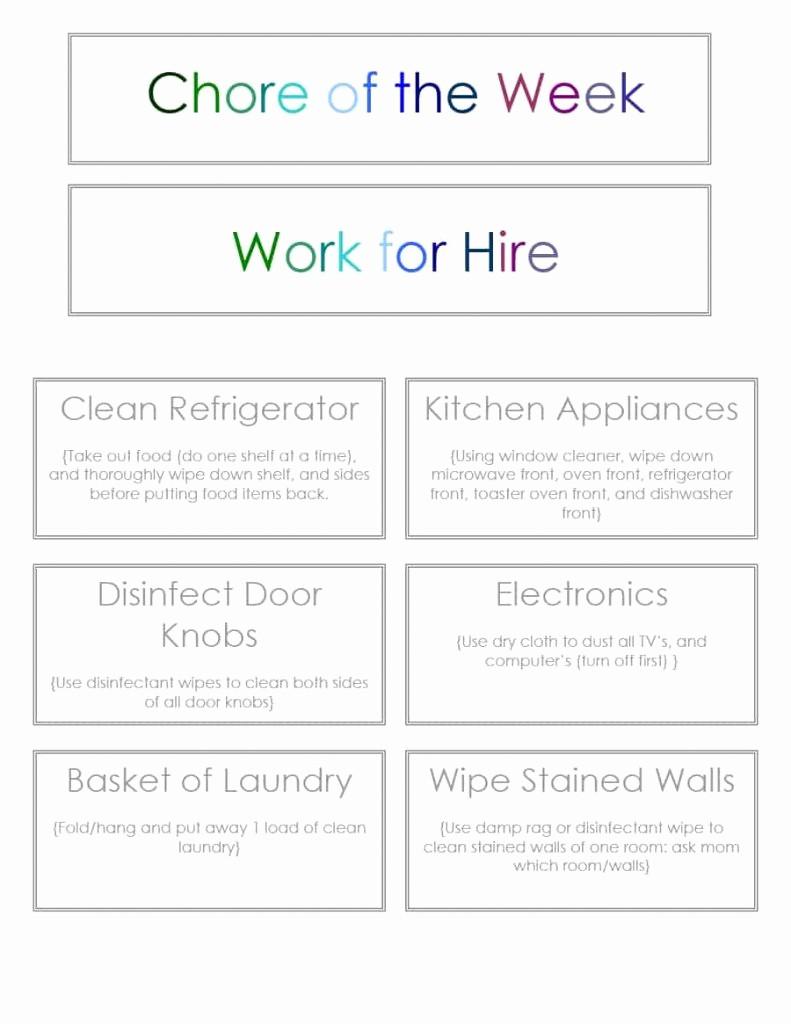 Chore Chart Template Google Docs Lovely Chore Chart Template 01a01 1 Chores Pinterest Cchart Kids