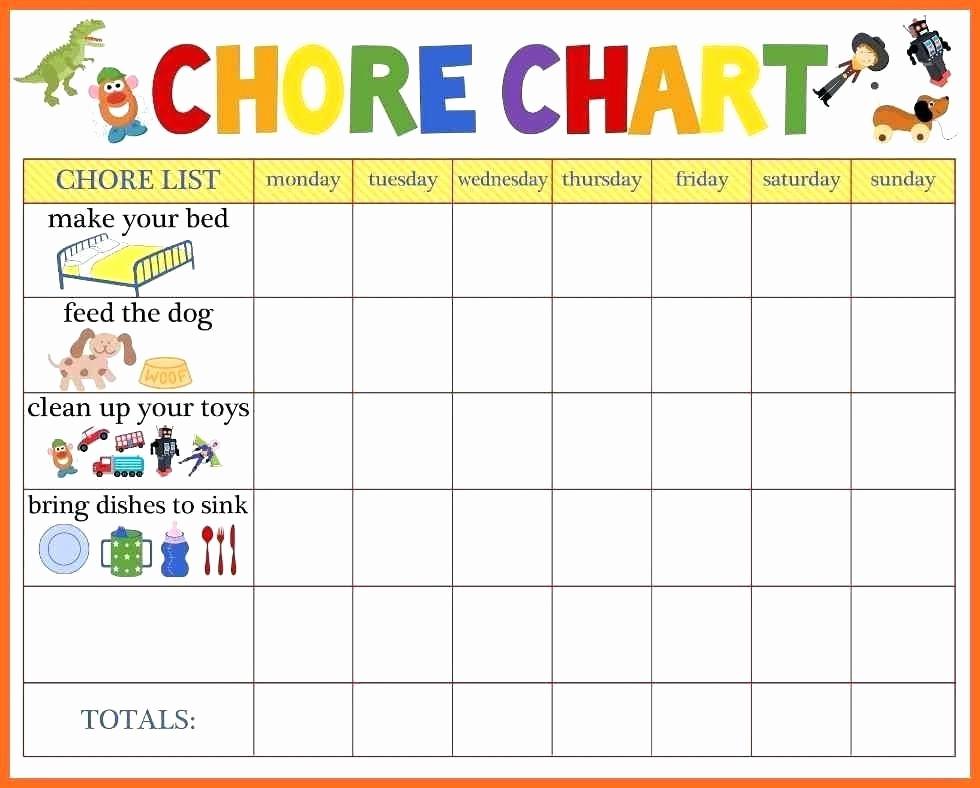 Chore Chart Template Google Docs Unique Chore Board Template Chore Chart Allowance Template