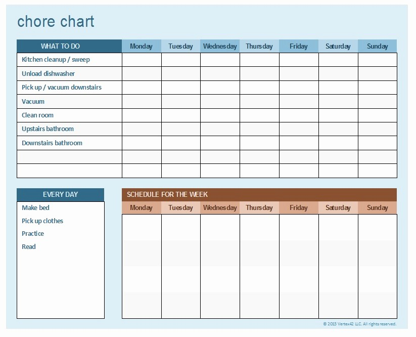 Chore Chart Template Google Docs Unique Household Chore Schedule Gseokbinder