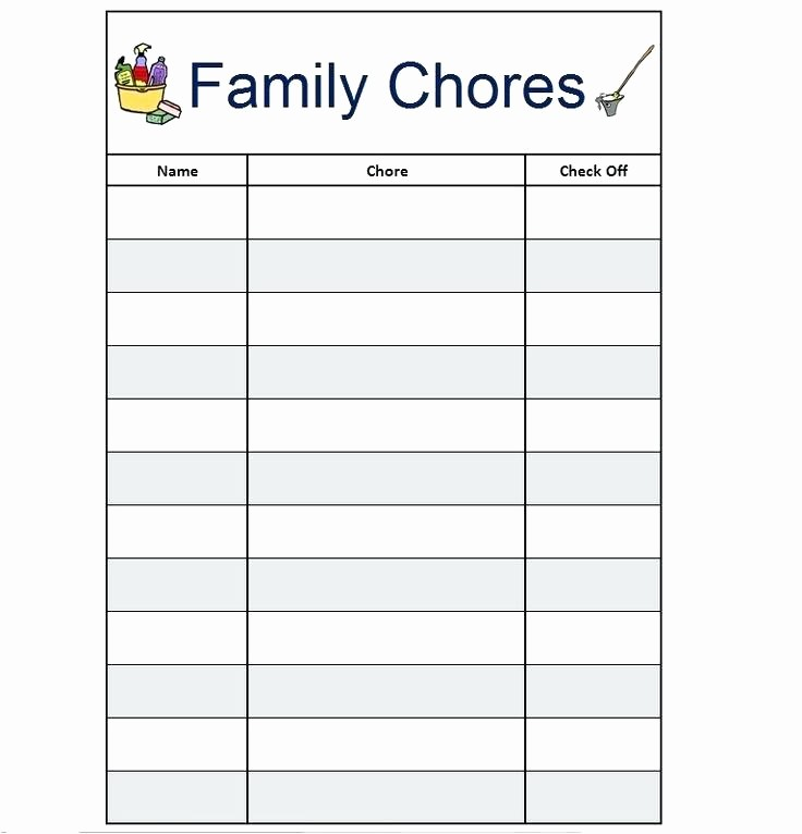 Chore Chart Template Google Docs Unique Printable Chore Chart Template Fresh Free Financial Money