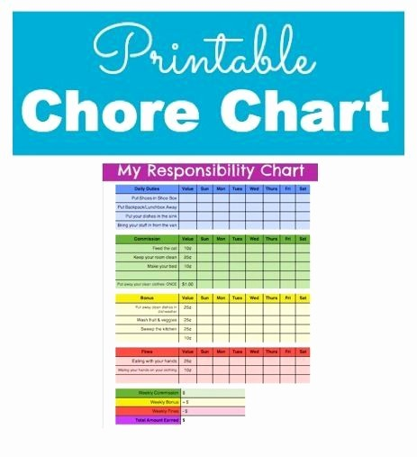 Chore List Template for Adults Best Of Pinterest • the World's Catalog Of Ideas